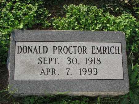 EMRICH, DONALD PROCTOR - Poinsett County, Arkansas | DONALD PROCTOR EMRICH - Arkansas Gravestone Photos
