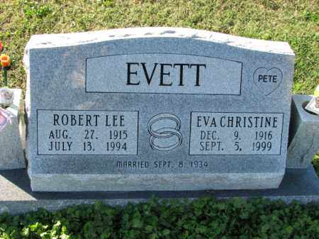 EVETT, EVA CHRISTINE - Poinsett County, Arkansas | EVA CHRISTINE EVETT - Arkansas Gravestone Photos