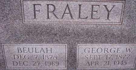 FRALEY, GEORGE W. - Poinsett County, Arkansas | GEORGE W. FRALEY - Arkansas Gravestone Photos