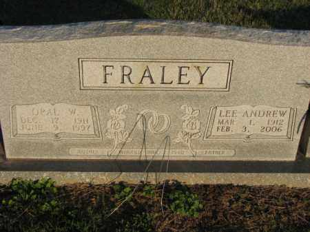 FRALEY, LEE ANDREW - Poinsett County, Arkansas | LEE ANDREW FRALEY - Arkansas Gravestone Photos