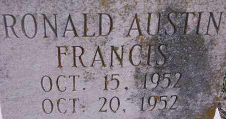 FRANCIS, RONALD AUSTIN - Poinsett County, Arkansas | RONALD AUSTIN FRANCIS - Arkansas Gravestone Photos