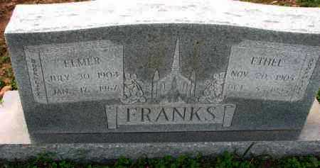 FRANKS, ELMER - Poinsett County, Arkansas | ELMER FRANKS - Arkansas Gravestone Photos