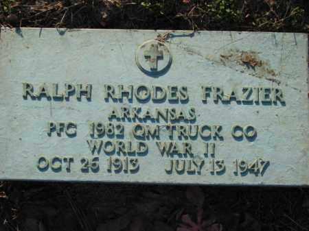 FRAZIER (VETERAN WWII), RALPH RHODES - Poinsett County, Arkansas | RALPH RHODES FRAZIER (VETERAN WWII) - Arkansas Gravestone Photos