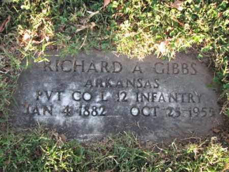 GIBBS (VETERAN), RICHARD A - Poinsett County, Arkansas   RICHARD A GIBBS (VETERAN) - Arkansas Gravestone Photos
