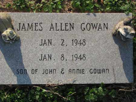 GOWAN, JAMES ALLEN - Poinsett County, Arkansas | JAMES ALLEN GOWAN - Arkansas Gravestone Photos