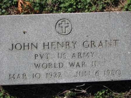 GRANT (VETERAN WWII), JOHN HENRY - Poinsett County, Arkansas | JOHN HENRY GRANT (VETERAN WWII) - Arkansas Gravestone Photos