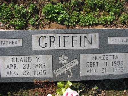 GRIFFIN, PRAZETTA - Poinsett County, Arkansas | PRAZETTA GRIFFIN - Arkansas Gravestone Photos