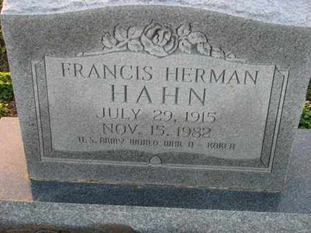 HAHN (VETERAN 2 WARS), FRANCIS HERMAN - Poinsett County, Arkansas | FRANCIS HERMAN HAHN (VETERAN 2 WARS) - Arkansas Gravestone Photos