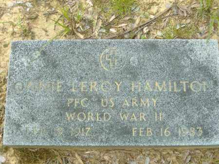HAMILTON  (VETERAN WWII), ONNIE LEROY - Poinsett County, Arkansas | ONNIE LEROY HAMILTON  (VETERAN WWII) - Arkansas Gravestone Photos