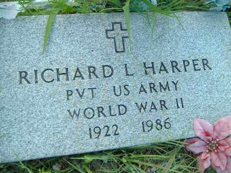 HARPER  (VETERAN WWII), RICHARD L - Poinsett County, Arkansas | RICHARD L HARPER  (VETERAN WWII) - Arkansas Gravestone Photos