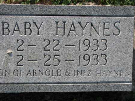 HAYNES, BABY - Poinsett County, Arkansas | BABY HAYNES - Arkansas Gravestone Photos