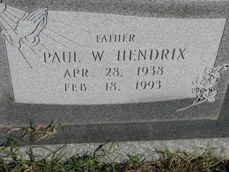 HENDRIX, PAUL W. - Poinsett County, Arkansas | PAUL W. HENDRIX - Arkansas Gravestone Photos
