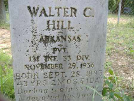 HILL  (VETERAN), WALTER C - Poinsett County, Arkansas | WALTER C HILL  (VETERAN) - Arkansas Gravestone Photos