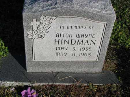 HINDMAN, ALTON WAYNE - Poinsett County, Arkansas | ALTON WAYNE HINDMAN - Arkansas Gravestone Photos