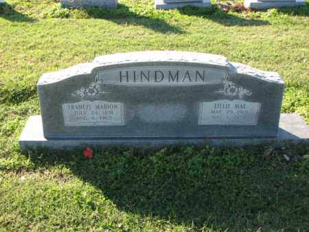 HINDMAN, FRANCES MARION - Poinsett County, Arkansas | FRANCES MARION HINDMAN - Arkansas Gravestone Photos