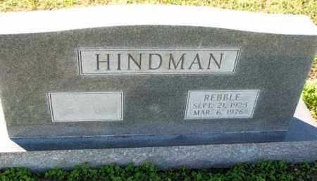 HINDMAN, REBBLE - Poinsett County, Arkansas | REBBLE HINDMAN - Arkansas Gravestone Photos