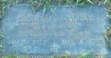 HIVELY  (VETERAN 2 WARS), ELZIE E. - Poinsett County, Arkansas | ELZIE E. HIVELY  (VETERAN 2 WARS) - Arkansas Gravestone Photos