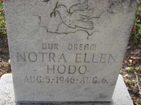 HODO, NOTA ELLEN - Poinsett County, Arkansas | NOTA ELLEN HODO - Arkansas Gravestone Photos