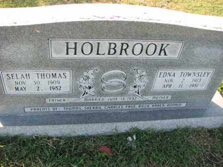 HOLBROOK, SELAH THOMAS - Poinsett County, Arkansas | SELAH THOMAS HOLBROOK - Arkansas Gravestone Photos