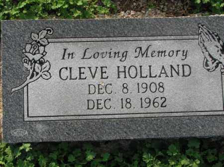 HOLLAND, CLEVE - Poinsett County, Arkansas | CLEVE HOLLAND - Arkansas Gravestone Photos