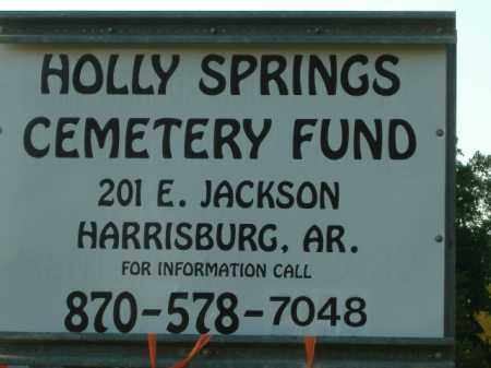 *HOLLY SPRINGS, CEMETERY FUND SIGN - Poinsett County, Arkansas | CEMETERY FUND SIGN *HOLLY SPRINGS - Arkansas Gravestone Photos