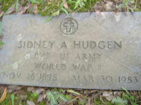 HUDGEN  (VETERAN WWI), SIDNEY A - Poinsett County, Arkansas | SIDNEY A HUDGEN  (VETERAN WWI) - Arkansas Gravestone Photos