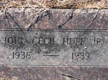 HUFF, JR., JOHN CECIL - Poinsett County, Arkansas | JOHN CECIL HUFF, JR. - Arkansas Gravestone Photos