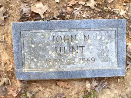 HUNT, JOHN N. - Poinsett County, Arkansas | JOHN N. HUNT - Arkansas Gravestone Photos
