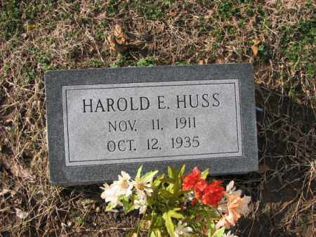 HUSS, HAROLD E. - Poinsett County, Arkansas | HAROLD E. HUSS - Arkansas Gravestone Photos
