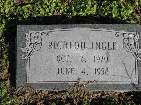 INGLE, RICHLOU - Poinsett County, Arkansas | RICHLOU INGLE - Arkansas Gravestone Photos