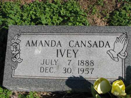 CANSADA IVEY, AMANDA - Poinsett County, Arkansas | AMANDA CANSADA IVEY - Arkansas Gravestone Photos