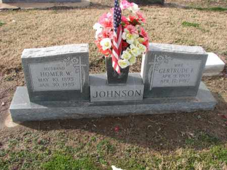 JOHNSON, HOMER W. - Poinsett County, Arkansas | HOMER W. JOHNSON - Arkansas Gravestone Photos
