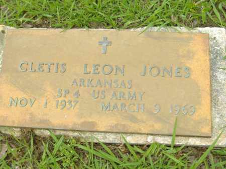 JONES  (VETERAN), CLETIS LEON - Poinsett County, Arkansas | CLETIS LEON JONES  (VETERAN) - Arkansas Gravestone Photos