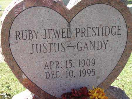 JUSTUS-GANDY, RUBY JEWEL - Poinsett County, Arkansas | RUBY JEWEL JUSTUS-GANDY - Arkansas Gravestone Photos