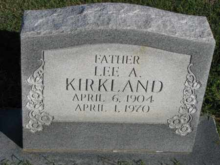 KIRKLAND, LEE A. - Poinsett County, Arkansas | LEE A. KIRKLAND - Arkansas Gravestone Photos