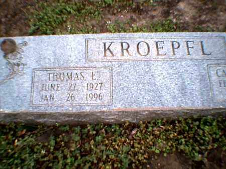 KROEPFL, THOMAS E. - Poinsett County, Arkansas | THOMAS E. KROEPFL - Arkansas Gravestone Photos