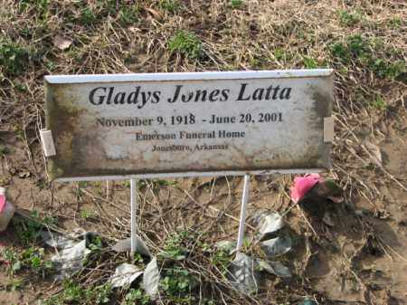 JONES LATTA, GLADYS - Poinsett County, Arkansas | GLADYS JONES LATTA - Arkansas Gravestone Photos