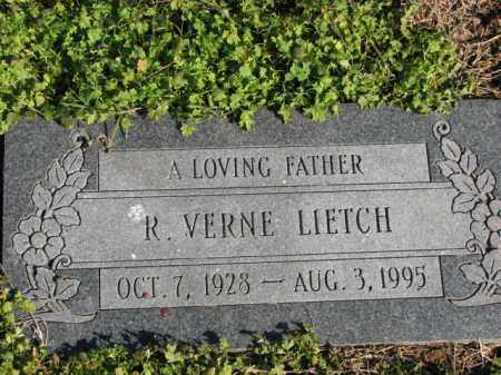 LIETCH, R. VERNE - Poinsett County, Arkansas | R. VERNE LIETCH - Arkansas Gravestone Photos