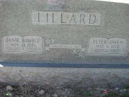 KIMBLE LILLARD, JANIE - Poinsett County, Arkansas | JANIE KIMBLE LILLARD - Arkansas Gravestone Photos