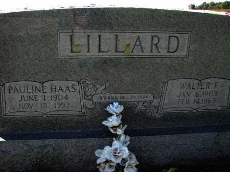 LILLARD, WALTER F. - Poinsett County, Arkansas | WALTER F. LILLARD - Arkansas Gravestone Photos