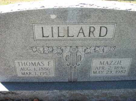 LILLARD, THOMAS F. - Poinsett County, Arkansas | THOMAS F. LILLARD - Arkansas Gravestone Photos