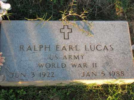 LUCAS (VETERAN WWII), RALPH EARL - Poinsett County, Arkansas | RALPH EARL LUCAS (VETERAN WWII) - Arkansas Gravestone Photos