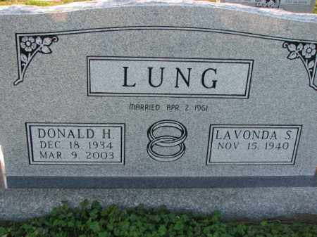 LUNG, DONALD H. - Poinsett County, Arkansas | DONALD H. LUNG - Arkansas Gravestone Photos