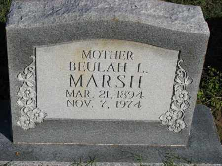 MARSH, BEULAH L. - Poinsett County, Arkansas | BEULAH L. MARSH - Arkansas Gravestone Photos