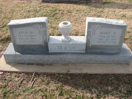 MASK, ARCH M. - Poinsett County, Arkansas | ARCH M. MASK - Arkansas Gravestone Photos