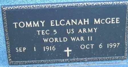 MCGEE  (VETERAN WWII), TOMMY ELCANAH - Poinsett County, Arkansas | TOMMY ELCANAH MCGEE  (VETERAN WWII) - Arkansas Gravestone Photos