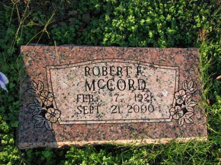 MCCORD, ROBERT F. - Poinsett County, Arkansas | ROBERT F. MCCORD - Arkansas Gravestone Photos