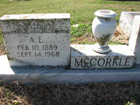 MCCORKLE, A.E. - Poinsett County, Arkansas | A.E. MCCORKLE - Arkansas Gravestone Photos