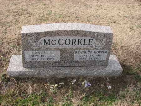 MCCORKLE, ERNEST L. - Poinsett County, Arkansas | ERNEST L. MCCORKLE - Arkansas Gravestone Photos