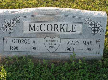 MCCORKLE, GEORGE A. - Poinsett County, Arkansas | GEORGE A. MCCORKLE - Arkansas Gravestone Photos